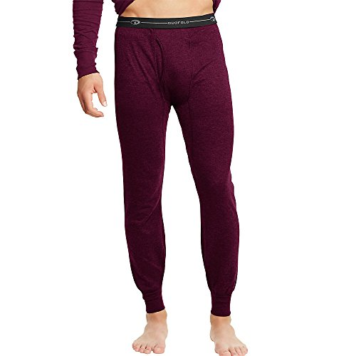 Red Thermal (Duofold Men's Mid Weight Wicking Thermal Pant, Bordeaux Red, Medium)