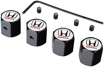 ShAwng Tappi valvole Pneumatici per Pneumatici Coperture per Pneumatici per Pneumatici Honda Fit Odyssey Jazz Civic Brio City Accord CRV XRV Inspire Insight Accessories A Black