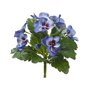 8″ Pansy Bush Blue (Pack of 12)