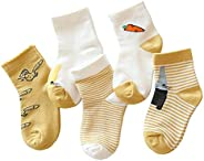Kids Toddlers Animal Socks Pack - Cotton Boys Girls Mid Calf Socks 5 Pairs