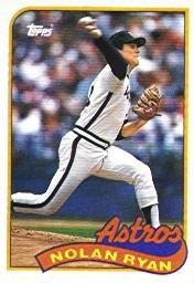 1989 Topps Baseball Card #530 Nolan Ryan