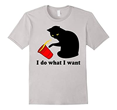 Do What I Want Black Cat Red Cup Funny Graphic T-Shirt