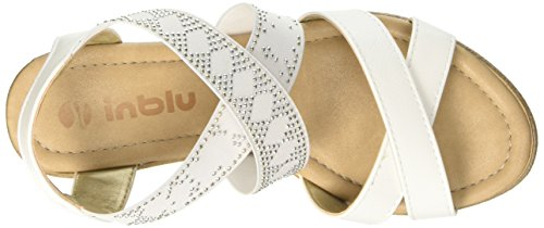 Inblu VP000014, Sandalias de Cuña Mujer Blanco