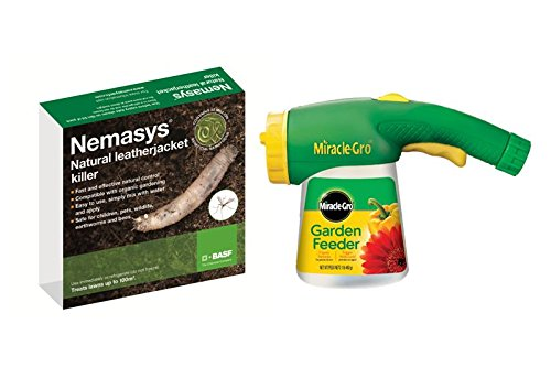 Gardening-Naturally Nemasys Leatherjacket Killer Nematodes Treats 100sq.m + Nematode Applicator …