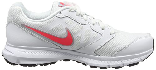Nike Womens Downshifter 6 White Pink Synthetic Trainers 38.5 EU