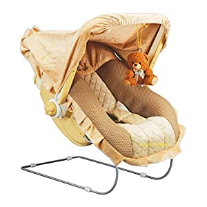 Goyal's Musical Baby Feeding Carry Cot with Mosquito Net