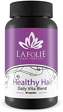 La Folie Hair Therapy - Healthy Hair - Daily Vita Blend- Biotin- 60 Capsules