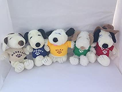 Amazon Com Peanuts Snoopy Plush Set Of 5 Included Spike Andy