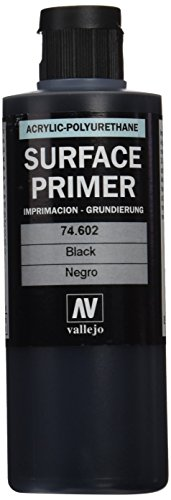 Vallejo Black Primer Acry-Poly 200ml Paint