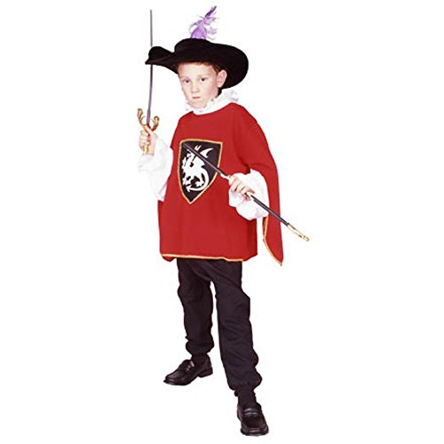 [Child's Red Musketeer Costume (Size: Small 4-6)] (Musketeer Sword Costume)