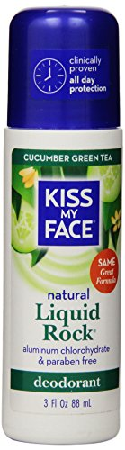 Kiss My Face Liquid Rock Aluminum Chlorohydrate Free Roll-on Deodorant, CUCUMBER GREEN TEA, 3 Ounce