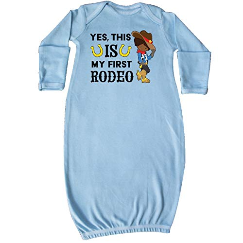 inktastic - Yes, This is My First Rodeo- Cowboy Newborn Layette Light Blue 3561c