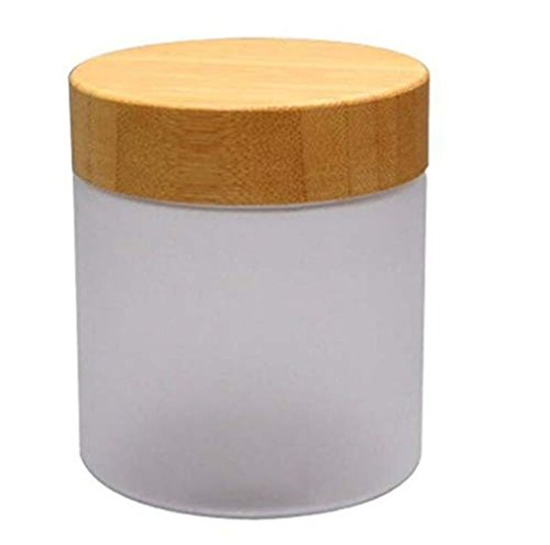 1PC 250ML Empty White Bamboo Lid Frosted PET Plastic Bottle