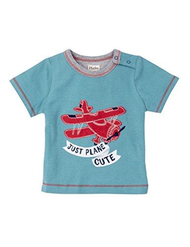 Boy Plane (Hatley Baby Boys' Graphic Tee Shirt, Just Plane Cute, 18-24M)