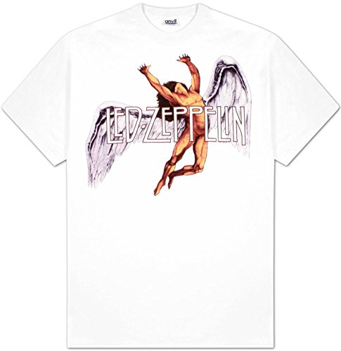 Old Glory Uomo Led Zeppelin - Colorful Swan Song T-Shirt - Medium Bianco