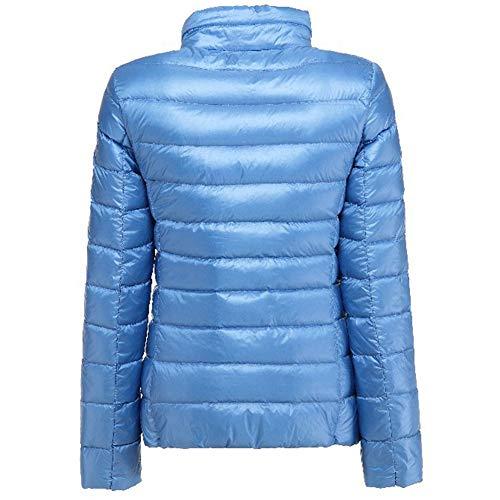 para de Parka Plumas Mujer Agua Abrigo Azul Chaqueta Plumón Yiqi de Cremallera Ligero xZWzwYnfq