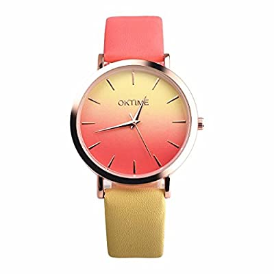 Big promotion ! Women's Watches, Auwer Retro Rainbow Design Leather Band Analog Alloy Quartz Wrist Watch