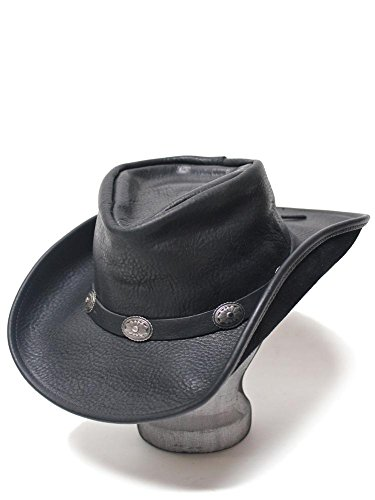 Henschel Walker U-Shape-It Concho Western Leather Hat Black 1111-39-L