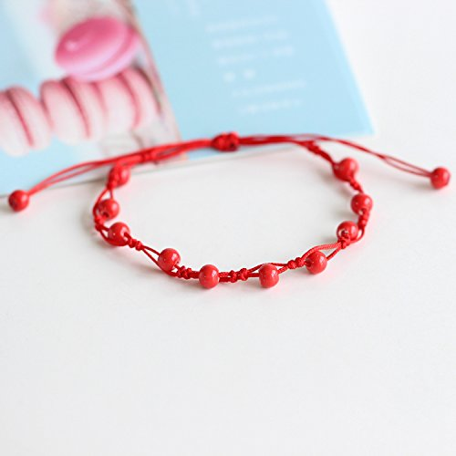 usongs Red rolling) (red string evil ceramic handmade Foot Chain anklet small fashion accessories jewelry manufacturers 94