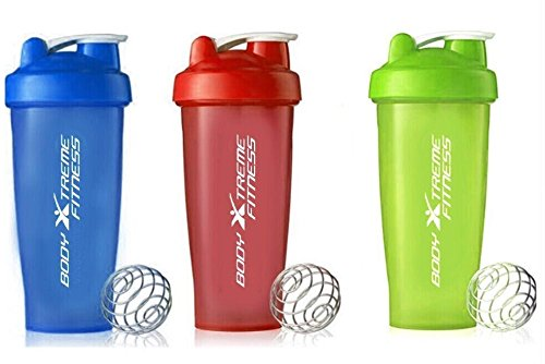 Body Xtreme Fitness Blue, Neon Yellow/Green, Red Mixing Shaker Bottle ✔ 28 ounce - Shaker Bottle Perfect for mixing Protein Shakes, Smoothies & Scramble Eggs!
