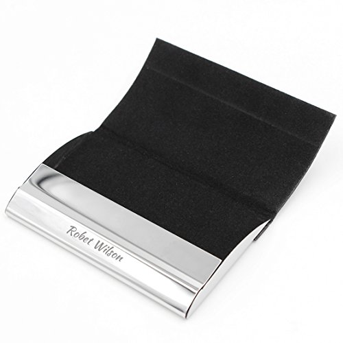Personalize Free Custom Engraving Credit Card Business Card Holder Card Case