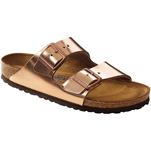 (Birkenstock Unisex Arizona Metallic Copper Sandals - 7-7.5 2A(N) US)