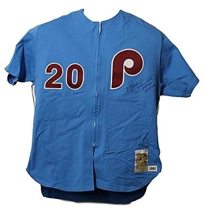 Mike Schmidt Autographed Philadelphia Phillies Mitchell   Ness 2XL ... 4facc1d9d8e