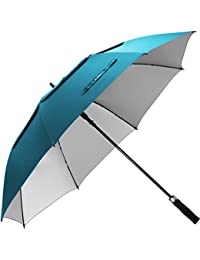 54/62/68 inch Windproof Large Vented Golf Umbrella, Including Classic & UV Protection Version, Double Canopy Rain and Sun Umbrellas