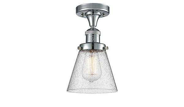 Innovations 201F-PN-G181-LED 1 Light Vintage Dimmable LED Semi-Flush Mount Polished Nickel