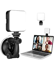 MUIFA Video Conference Lighting Kit, 2 in 1 Suction Cup & Clip on Laptop Zoom Meeting Light with Rechargeable Battery, Streaming Ring Light for Computer Laptop Video Conferencing