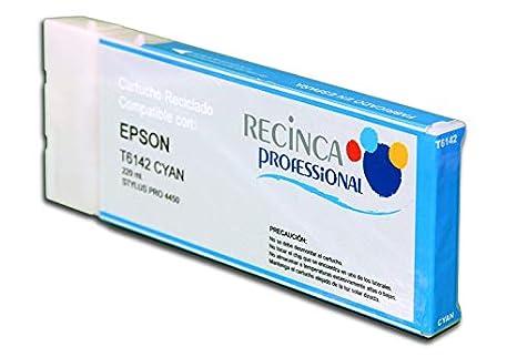 Cartucho Reciclado Epson T6142 Cian de 220 mililitros. Tinta ...
