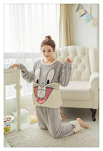 Flannel Pigiama Donna Rabbit Women Winter Pajamas for Women Winter Women Pajama Sets Feminino Mujer Primark 16 XL]()