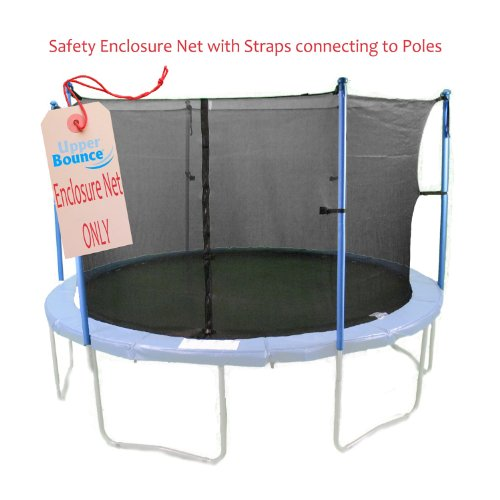 Upper-Bounce-10-Trampoline-Replacement-Enclosure-Exercise-Safety-Net-Fits-10-FT-Round-Frames-Using