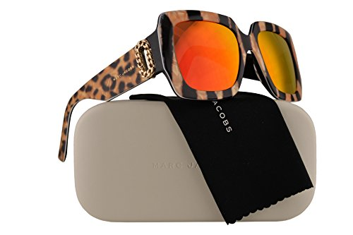Marc Jacobs Marc 179/S/R Sunglasses Gold Chain Leopard w/Red Mirror Lens 53mm ZY5UZ MJ179/S MJ 179/S Marc 179S Marc179/S/R Marc179S/R Marc179/S ()