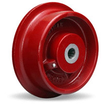 Single-Flanged-Track-Wheel-8-Diameter-x-2-14-Face-x-3-14-Hub-length-with-1-Roller-Bearing