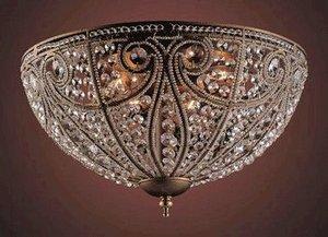 Elk Elizabethan 6-Light Flush-Mount Ceiling Fixture, Dark Bronze