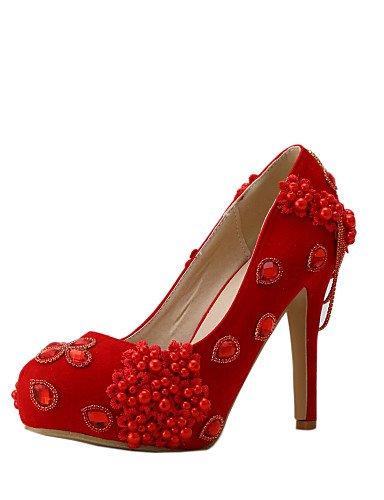 ZQ Zapatos de boda-Tacones-Tacones-Boda / Vestido / Fiesta y Noche-Rojo-Mujer , 4in-4 3/4in-us9 / eu40 / uk7 / cn41 , 4in-4 3/4in-us9 / eu40 / uk7 / cn41 4in-4 3/4in-us6 / eu36 / uk4 / cn36
