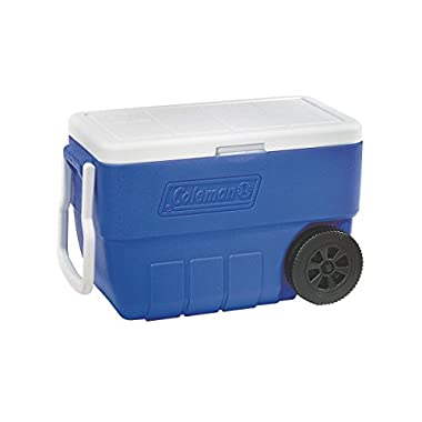 Coleman 50-Quart Wheeled Cooler (Blue)
