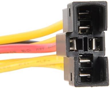 uxcell プッシュスイッチ接続ケーブル 6ピン信号警報スイッチ 30cm長さ プラスチック材質