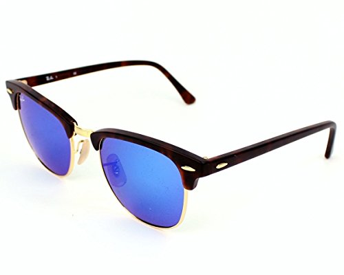 Ray Ban RB3016 114517 51 Havana/Gold Blue Mirror Clubmaster Bundle - 2 - Ban Mirror Clubmaster Blue Ray