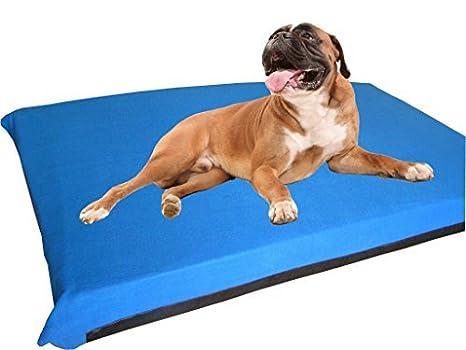kosipet® Extra grande Deluxe colchón de espuma de alta densidad impermeable cama para perro camas Azul Polar: Amazon.es: Productos para mascotas