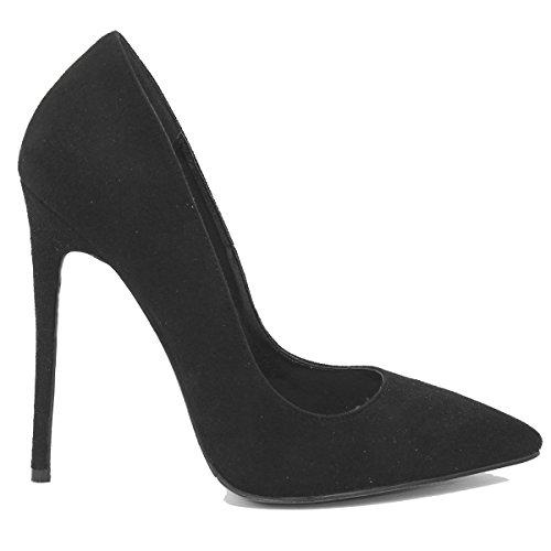 Talons Zaproma Femme Chaussures De Mariage Noir Pompes Hauts Sexy À SSArpqt