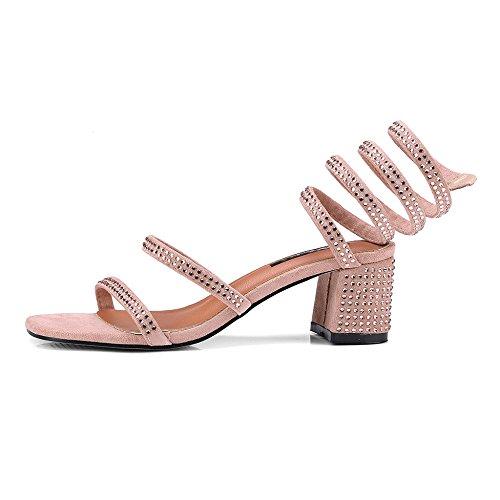 3b30af06 Mejor Yra Zapatos De Mujer Nuevo Verano Rhinestone Sandalias Romanas De  Serpiente De Tacón Vendaje De