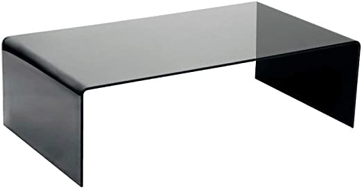Amazon Com Fab Glass And Mirror Grey Bent Glass Coffee Table 3 8