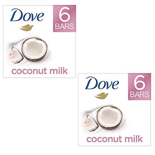 - Moisturizing Than Coconut Soap Bars, Coconut Milk Beauty Bar 4 oz, 6 Bar (2 Pack)