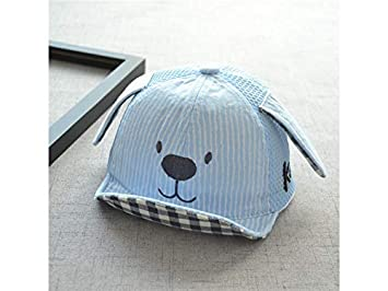 Amazon.com: OVIIVO Toddler Foldable Cartoon Dog Baseball Cap Infant Child Cotton Sun Hat Visor Cap for 3-7 Years Old (Blue) Cap Baby Sun: Baby