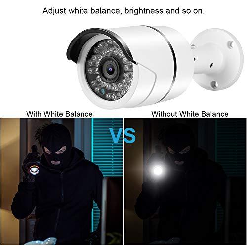 【𝐁𝐥𝐚𝐜𝐤 𝐅𝐫𝐢𝐝𝐚𝒚 𝐋𝐨𝒘𝐞𝐬𝐭 𝐏𝐫𝐢𝐜𝐞】 Bullet Security Camera for Outdoor/Indoor, Outdoor CCTV DVR 4 in 1 TVI/AHD/CVI/CVBS Metal IP66 Waterproof Security Camera(5MP PAL)