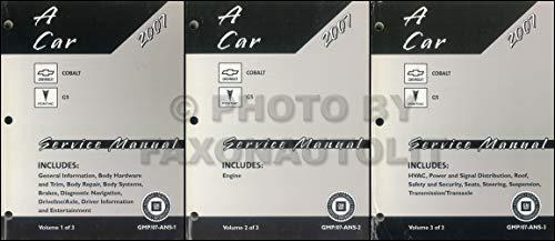 2007 Chevy Aveo Pontiac Wave Repair Shop Manual Original 2 Volume Set