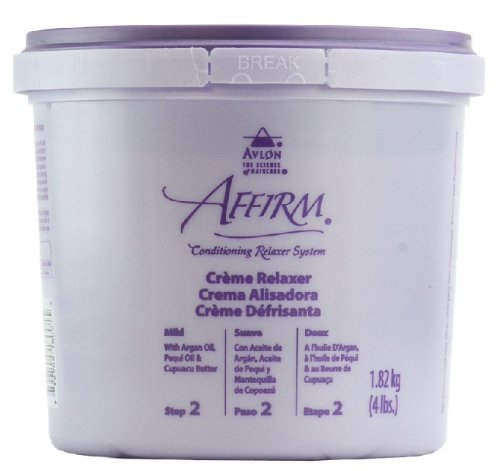 Sodium Hydroxide Hair Relaxer - Avlon Affirm Creme Relaxer - 4 lb - Control : Mild (Time Release Sodium Hydroxide)