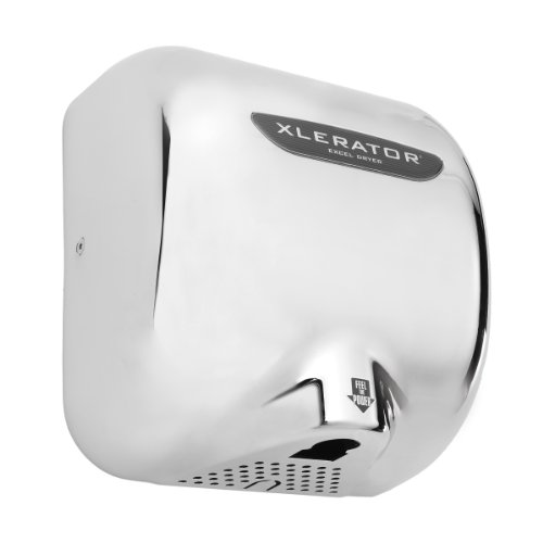 XLERATOR XL-C Automatic Surface-Mounted Hand Dryer with Chrome Cover, 12-11/16' Height x 11-3/4' Width x 6-11/16' Depth
